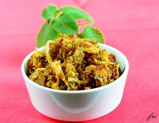 Carom Leaf Cabbage Fritters Recipe - Easy Cabbage Pakoras