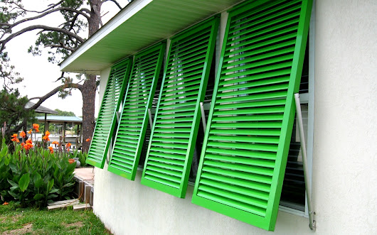 Miami Hurricane Shutters (Accordion, Roll Away, Bahama, Colonial, Security) - Custom Window Blinds, Shutters and Shades