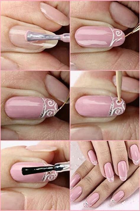 Easy Bridal Wedding Nail Art Tutorials For Girls 2014