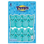 Peeps Marshmallow Bunnies - Blue - 1 Pack Of 12 Bunnies