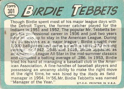 #301 Birdie Tebbetts (back)