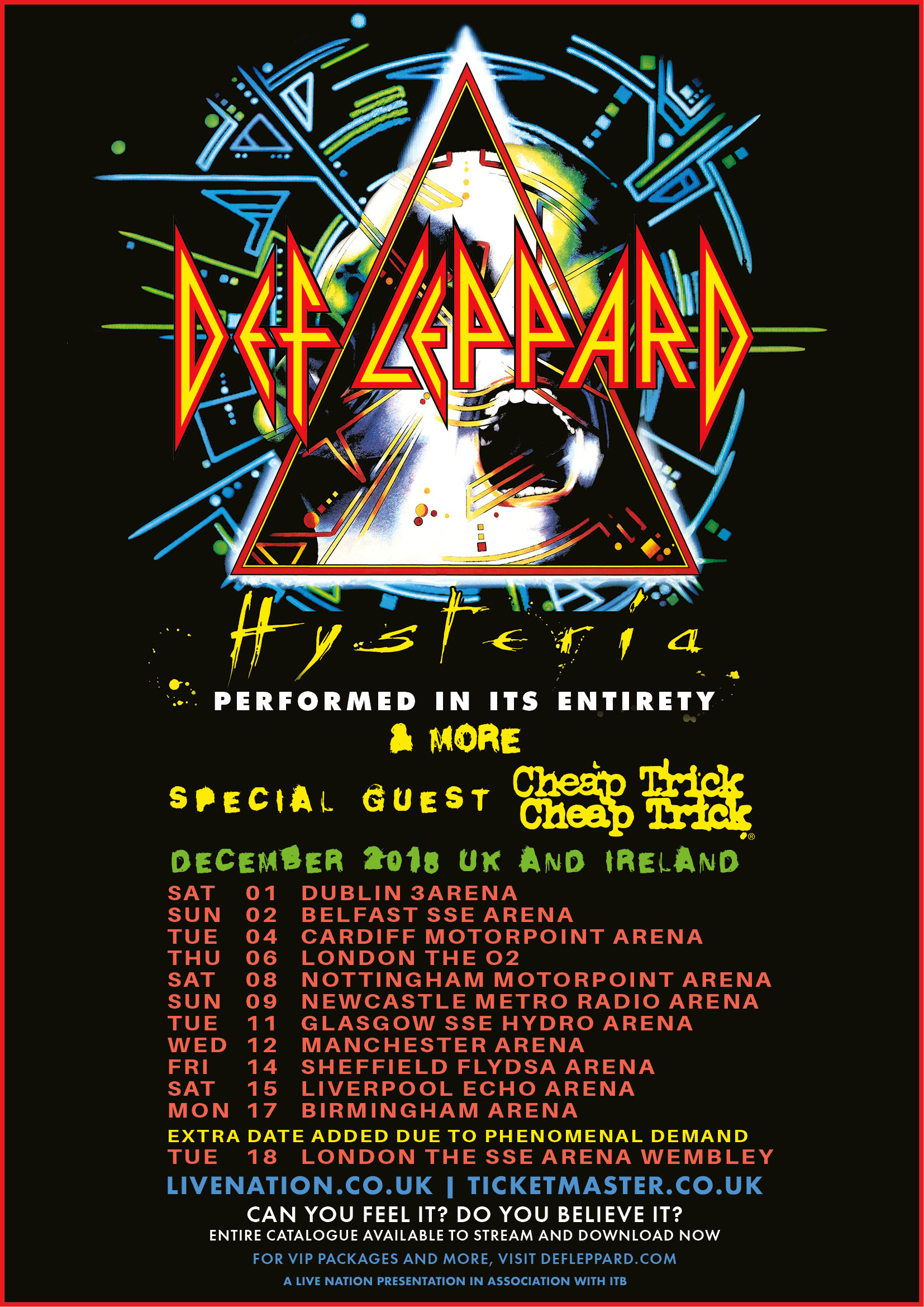 Image result for def leppard hysteria tour uk