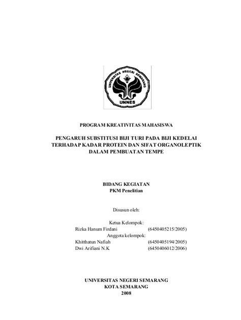 Contoh Cover Proposal Pkm Kewirausahaan Kumpulan Contoh Makalah Doc Lengkap
