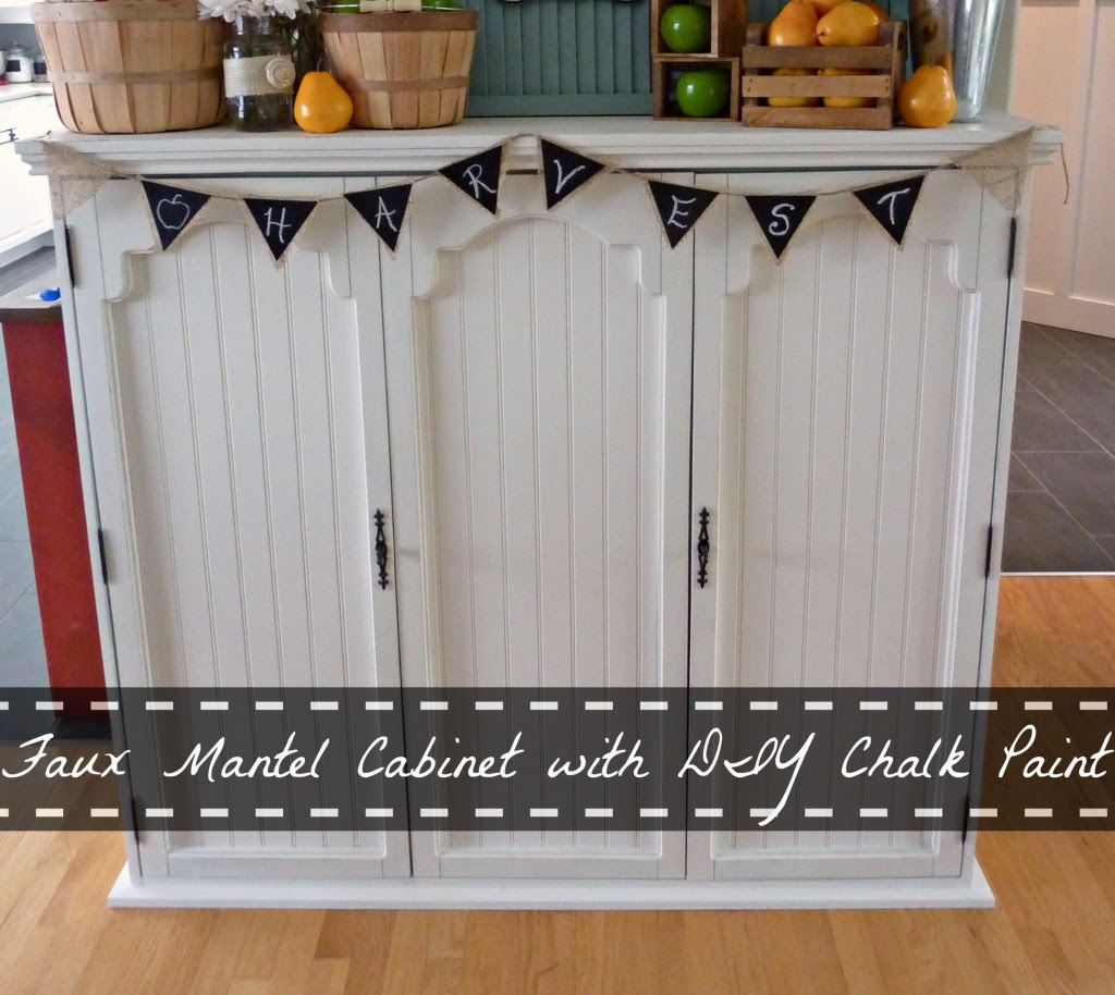 Faux Mantel Cabinet with DIY Chalk Paint