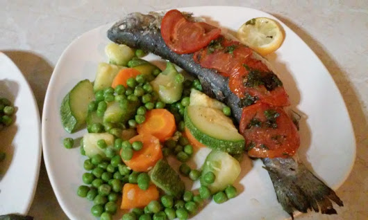 Baked fish Greek style