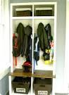 White Entryway Storage Units