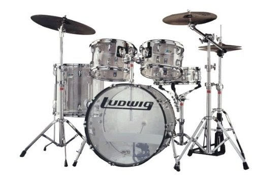 Ludwig Clear Vistalite Big Beat Drum Shell Pack 5 Piece