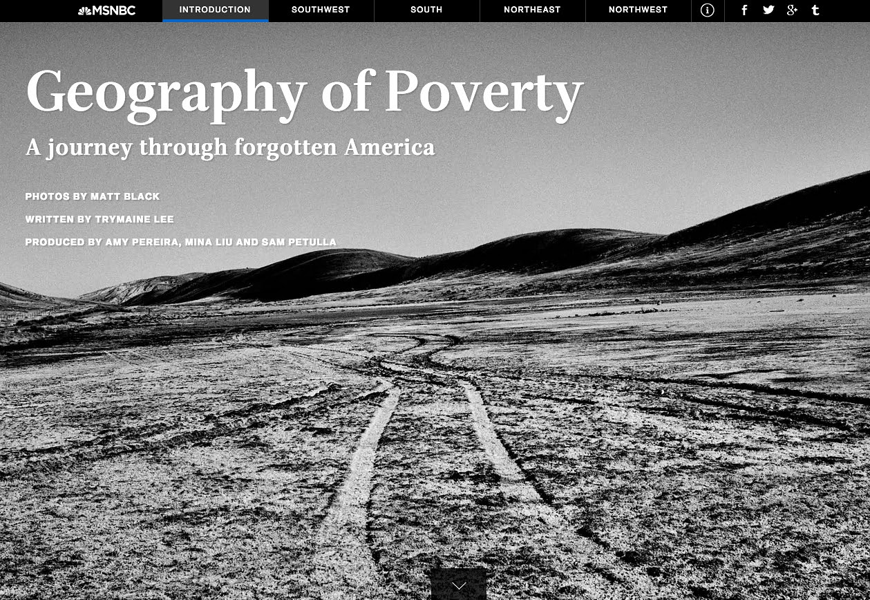 'Geography of Poverty' on MSNBC (screenshot via msnbc.com)
