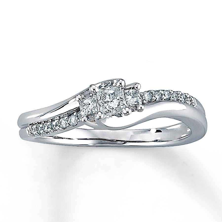 14k White Gold Diamond Engagement Ring From Zales The Gold Atm