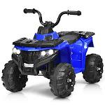 6V Battery Powered Kids Electric Ride on ATV-Blue - Color: Blue