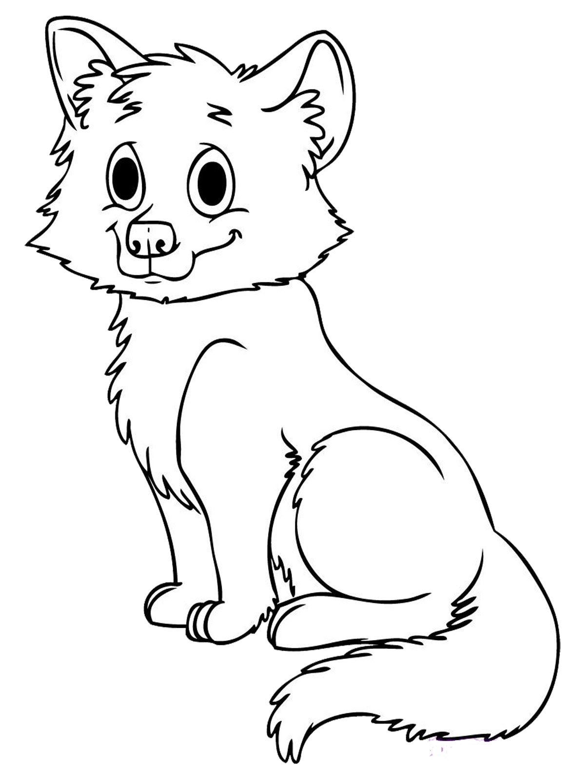 Cute Baby Wolf Coloring Pages - Animal Coloring pages of ...