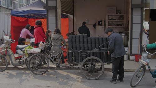 Charcoal vendor, Pixian