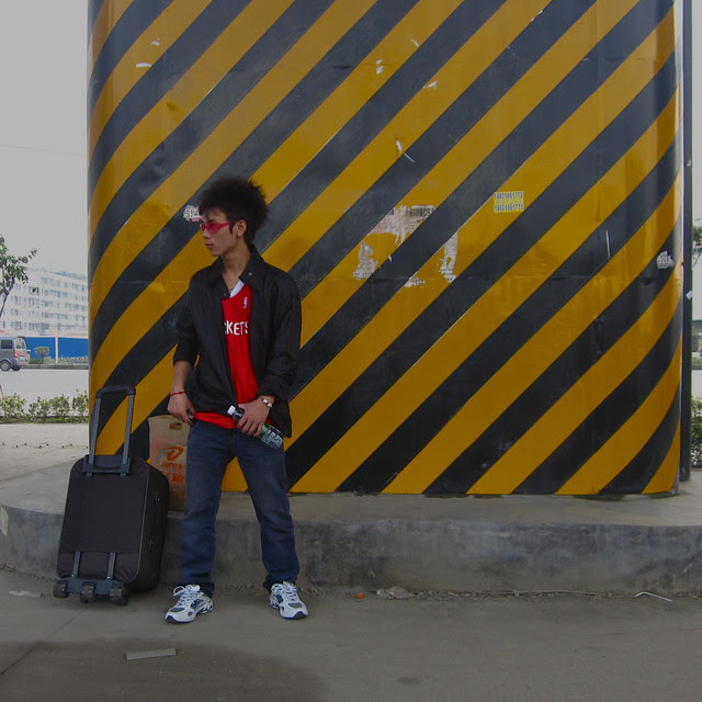 Outside the High Speed Train Station, Hongguang