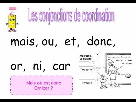 ادوات الربط في اللغة الفرنسية LES CONJONCTIONS DE COORDINATION
