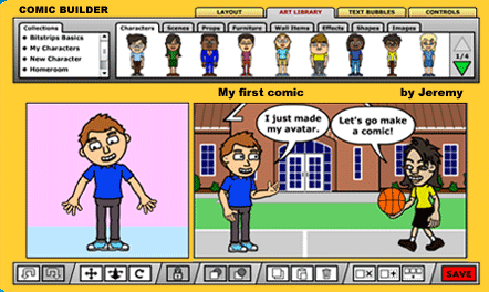 Comic creation (5th and 6th grade)