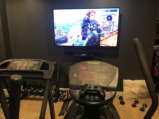 Working out while playing video games - Game Room Info