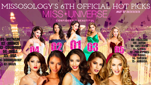 MISS UNIVERSE 6th OFFICIAL HOT PICKS - Missosology