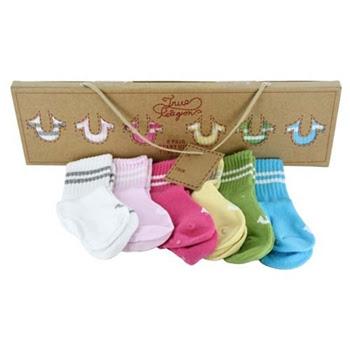 True Religion Infant Girl's Gift Box Set - 1 Box of 6 Pair