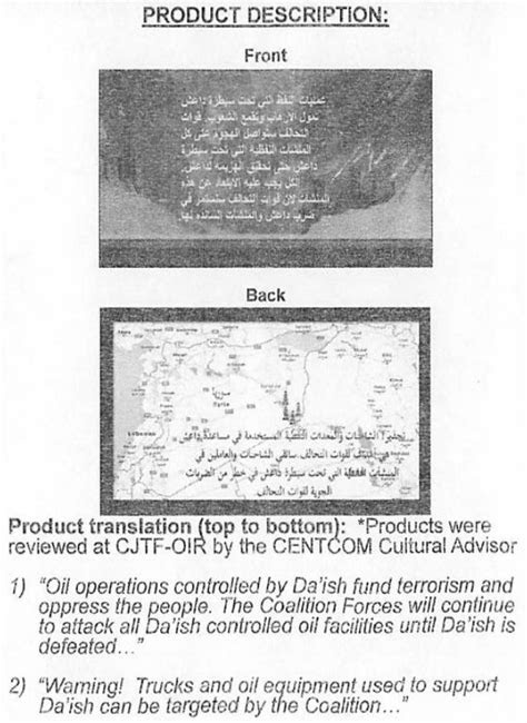 Here Are the Leaflets the United States Dropped on Islamic
