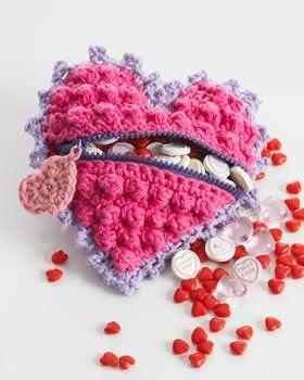 Heart Shaped Candy Bag « The Yarn Box The Yarn Box