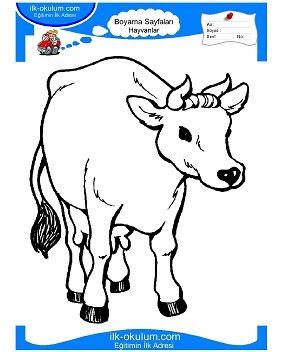 inek resmi boyama oyunu gazetesujin