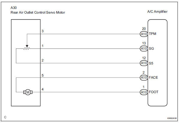 Toyota Sienna Service Manual Rear Air Outlet Damper Control Servo Motor Circuit Actuator Check Air Conditioning System For Automatic Air Conditioning System Air Conditioning