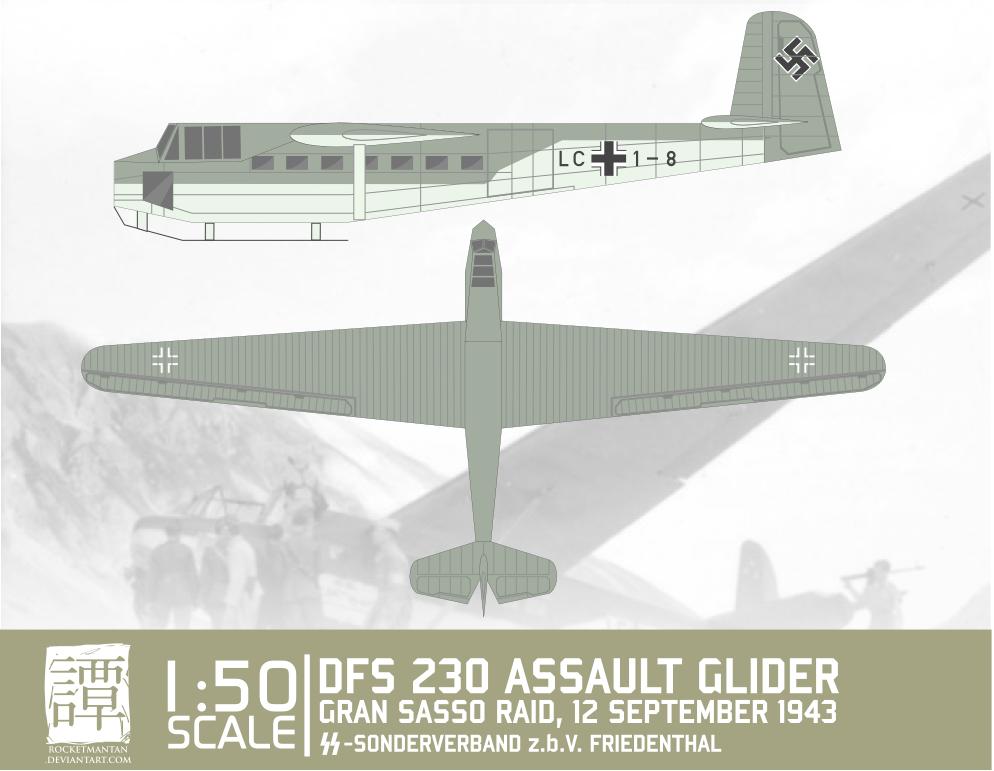 DFS 230 Assault Glider Papercraft