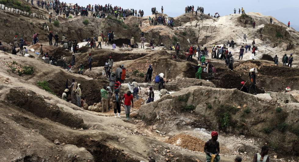 Mina de Rubaya, la explotación de coltán más grande de la República Democrática del Congo.