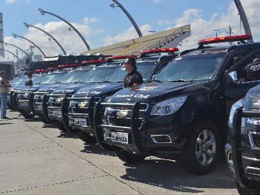 A Polícia Civil recebeu 355 novas viaturas