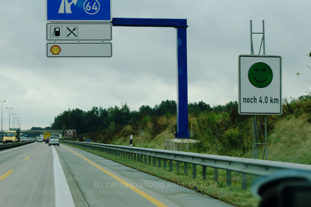 Green roadworks smiley - Germany