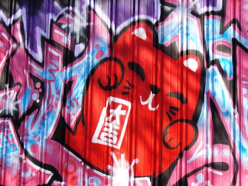graffiti kitty