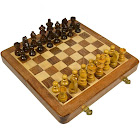 """House of Staunton Folding Wooden Magnetic Chess Set - 10"""""""