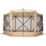 Gazelle G6 Pop-Up Portable Gazebo (6-Sided), Beige