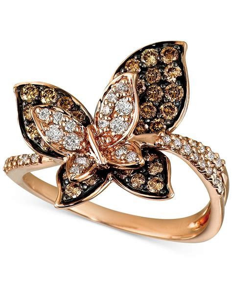 A butterfly flutters by Le Vian Chocolate Diamonds® and