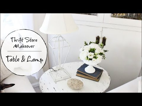 Thrifted Table and Lamp Makeover