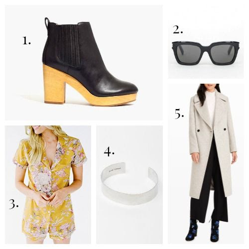 Madewell Boots - Saint Laurent Sunglasses - Plum Pretty Sugar Pajamas - Isabel Marant Bracelet - Club Monaco Coat