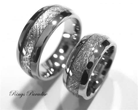 Custom Made Matching Wedding Bands With Fingerprint