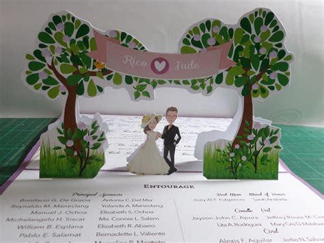 Garden Pop Up Wedding Invitation   Pop Up Occasions