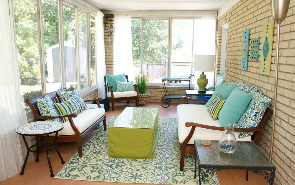 Sew Can Do Diy Exotic Sunroom Back Porch Makeover