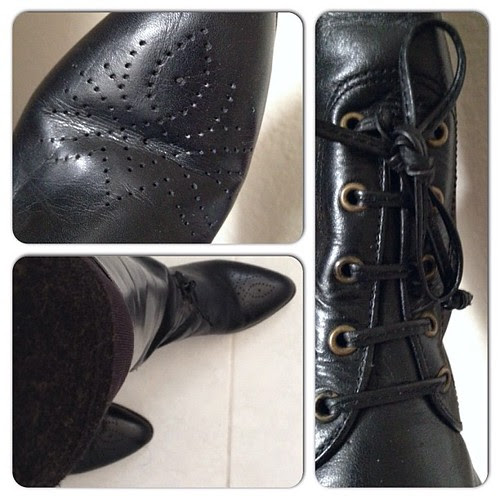 "My ""new"" favorite boots: a 1970s pair from Gloria Vanderbilt"