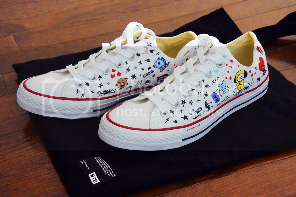 17b6ea1e676650 Converse x BT21 Multi White Chuck Taylor All Star Low Top