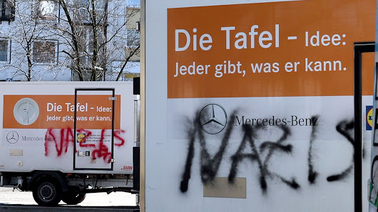 "Nach Ausländer-Stopp: ""Nazis""-Schmiererei bei Essener Tafel"