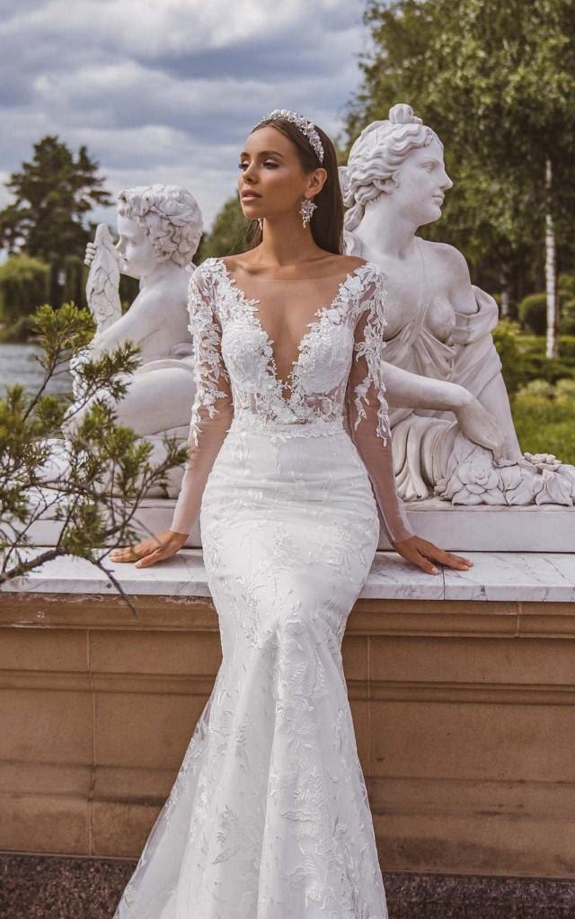 Long Sleeve Wedding Dress Lace Wedding Dress Mermaid Wedding Dress Sexy Wedding Dress Wedding Dresses Bohemian Wedding Dress With Sleeves 2957048 Weddbook