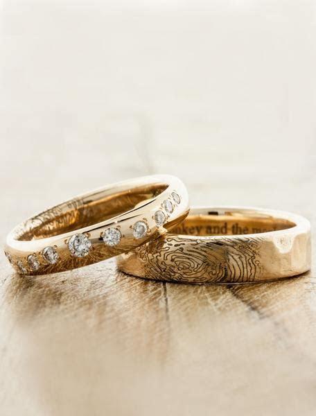 Lito: Custom Fingerprint Wedding Ring   Ken & Dana Design