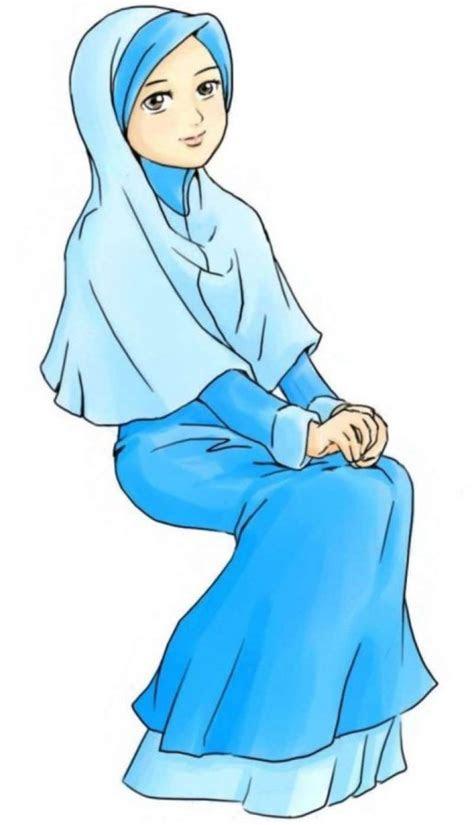 gambar kartun muslimah bercadar memanah medsos