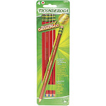 Ticonderoga Erasable Colored Pencils, Red - 4 count