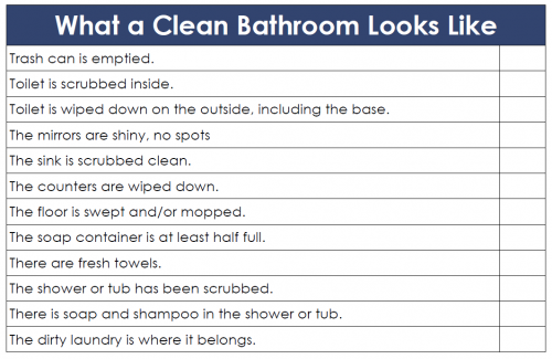 Kids Can Clean the Bathrooms