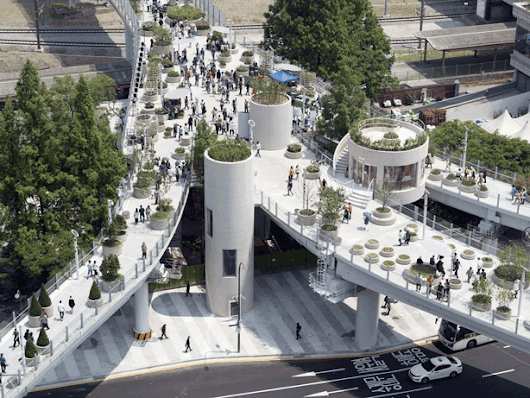 Seoul Highway Overpass Transformed Into Elevated Public Skygarden - Urban Gardens