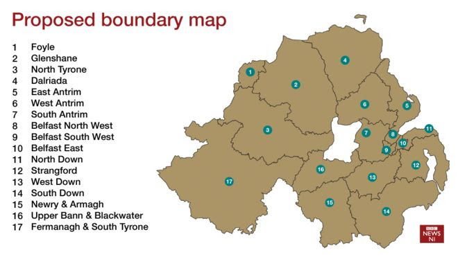 Proposed boundary map