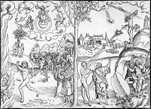Lucas Cranach the Elder: woodcut Law and grace...
